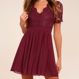 LULU'S - ANGEL IN DISGUISE LACE SKATER DRESS